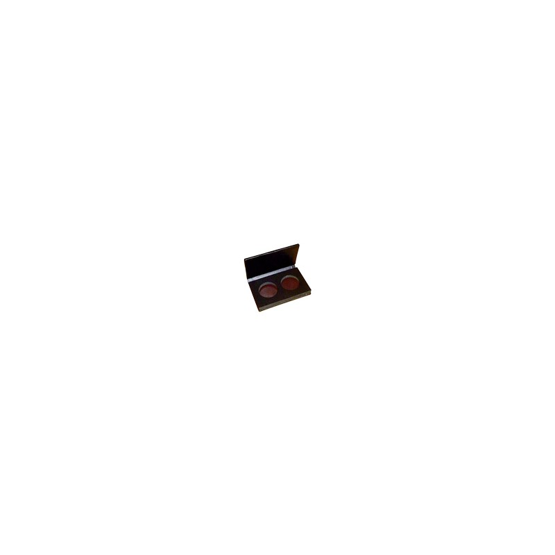 Palette aimantée simili cuir vide - 2 godets