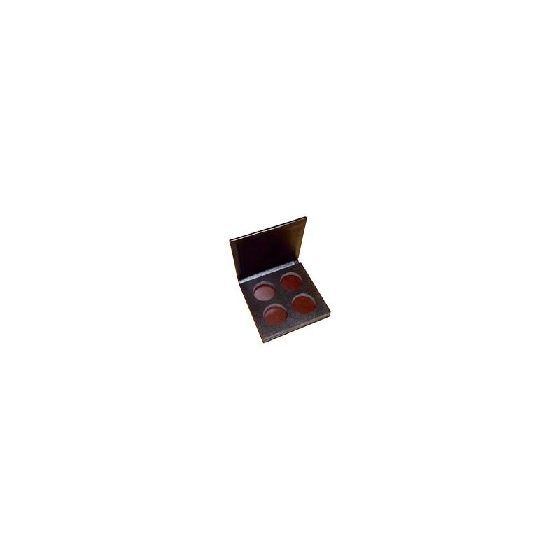 Palette aimantée simili cuir vide - 4 godets